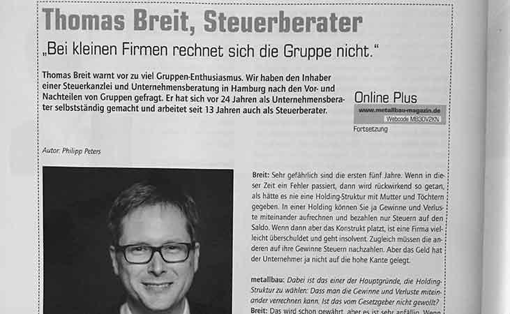 Interview mit dem Metallbau Magazin